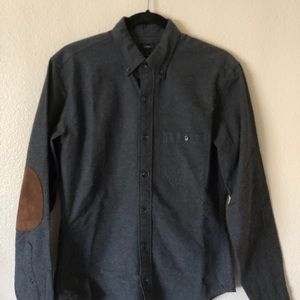 Jcrew cotton/wool button-down with elbow pads